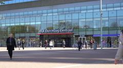 Den Haag Centraal, The Hague Netherlands 4K Stock Footage