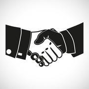 Illustration Icon Vector Set Shake Hands Stock Illustration
