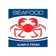 Atlantic snow crab icon for seafood bar design Stock Illustration