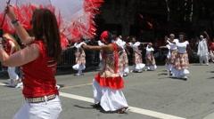 San Francisco Carnaval - stock footage