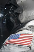 Astronaut suit used in space travel by the United States of America Stock Photos