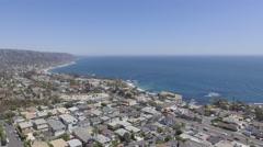 2.7K HD Laguna Beach Coastline in Southern California Stock Footage