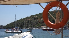 4K Greece, Lefkada Island Beach, Yachts View in Port, Boats in Harbor, Summer Stock Footage