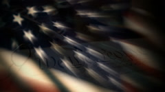Us Constitution Stock Footage