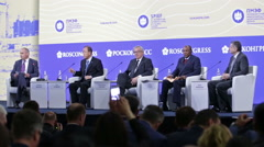 St. Petersburg International Economic Forum SPIEF-2016 Stock Footage