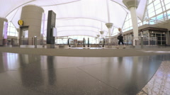 Passengers at the Denver International Airport. Stock Footage