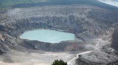 Poas Volcano, Costa Rica Stock Footage