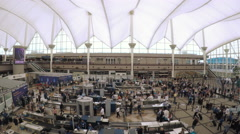 TSA lines at Denver International Airport, Colorado. Stock Footage