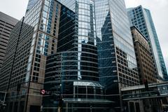 Modern buildings in downtown Minneapolis, Minnesota. Stock Photos