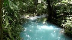 Celeste River, Costa Rica Stock Footage
