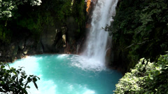 Rio Celeste waterfall, Costa Rica Stock Footage