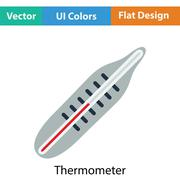 Medical thermometer icon - stock illustration