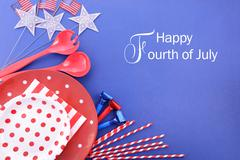 Happy Fourth of July Party Background. Stock Photos