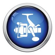 Icon of Fishing reel Stock Illustration