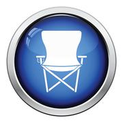 Icon of Fishing folding chair Stock Illustration