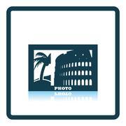Digital photo frame icon Stock Illustration