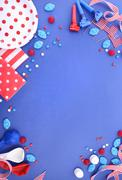 Happy Fourth of July Party Background. - stock photo