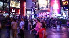 Time Lapse - Crowds Outside of Planet Hollywood Casino - stock footage