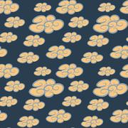 Seamless pattern of yellow cloud Stock Illustration