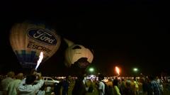 Thailand International Balloon Festival 2016 9th at Payap University Stock Footage