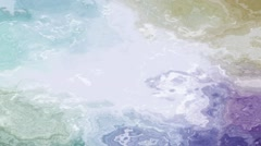 Pastel colored flowing water. Soft colored moving splashes or liquid - stock footage