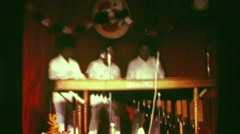 1978: Xylophone musicians performing on stage concert in sexy nightclub. Stock Footage