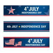 independence day 4 th july. happy independence day. - stock illustration