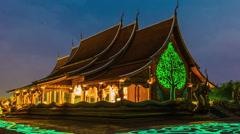 Temple  Phu Proud Stock Footage