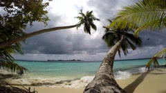 Before the storm. Gorgeous exotic Islands of the Maldives archipelago Stock Footage