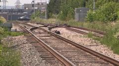 Severe heat causes railway tracks to warp Stock Footage
