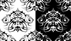 Decorative element seamless pattern - stock illustration