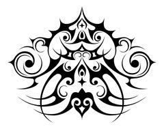 Decorative element of pattern - stock illustration