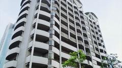 Apartment Block Balconies Stock Footage