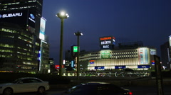Shinjuku Odakyu Side at Night Stock Footage