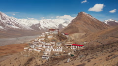 Key Temple Time Lapse Clouds Polar Filter Zoom - stock footage
