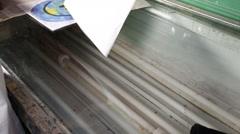 prepare silk screen to print tee shirt - stock footage