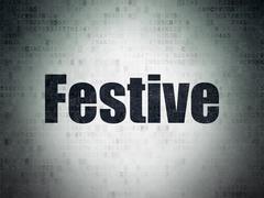 Holiday concept: Festive on Digital Data Paper background Stock Illustration