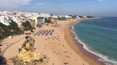The beach in Albufeira Stock Footage