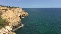 The coast of Carvoeiro Stock Footage