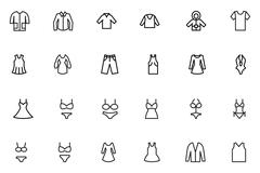 Clothes Line Vector Icons - stock illustration