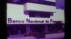 1976: Banco Nacional de Panama skyscraper tower building. COLON, PANAMA Stock Footage