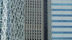 Close Up of Shinjuku Office Buildings Stock Footage