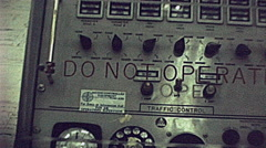 Cape Canaveral 1970s: control panel at Kennedy Space Center - stock footage