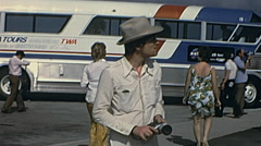 Cape Canaveral 1970s: visitors at Kennedy Space Center - stock footage