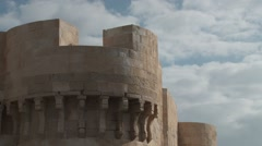Turret in the Citadel of Qaitbay in Alexandria, - stock footage