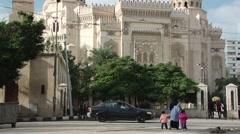 El-Mursi Abul Abbas Mosque in Alexandria Stock Footage