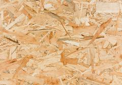 Close up texture of oriented strand board (OSB) Stock Photos