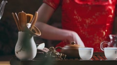 Tea leaves Stock Footage