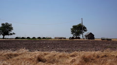 Kansas Old Shed and Windmills Stock Footage