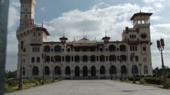 Front view of the Montaza Palace in Alexandria Stock Footage